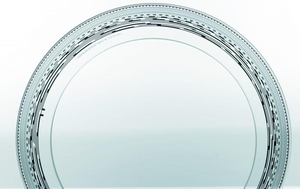 Codierter Teilkreis mit mehreren Spuren (© DR. JOHANNES HEIDENHAIN GmbH)