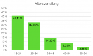 Altersverteilung (Quelle: Google Analytics)