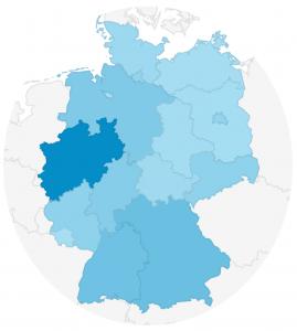 Verteilung der Benutzer nach Bundesländern (Quelle: Google Analytics, Zeitraum 01.11.17-31.10.18)