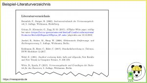 Literaturverzeichnis (Beispiel)